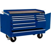 """Kennedy® 4800MPBL 48"""" 10-Drawer Industrial Mobile Bench - Blue"""