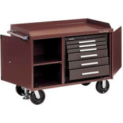 """Kennedy® 4806B 48"""" 6-Drawer Industrial Mobile Bench - Brown"""