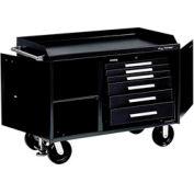 "Kennedy® 4806BK 48"" 6-Drawer Industrial Mobile Bench - Black"