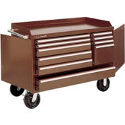 """Kennedy® 4810B 48"""" 10-Drawer Industrial Mobile Bench - Brown"""