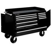 "Kennedy® 4810BK 48"" 10-Drawer Industrial Mobile Bench - Black"