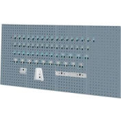 Kennedy Manufacturing -VTC Series-50004UGY-4 Panel Sq. Hole Toolbaord Set w/60-Pc Toolhlder Set-Gray