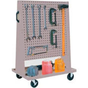 Trolley Based for 4-Panel Square Hole Set - Gray