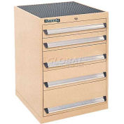 Kennedy 5-Drawer Modular Cabinet w / 220 lb Cap. Suspension Slide Drawers-24x24x31-11/16 / Black