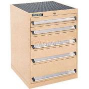 Kennedy 5-Drawer Modular Cabinet w/220 lb Cap. Suspension Slide Drawers-24x24x31-11/16, Gray Wrinkle