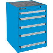 Kennedy 5-Drawer Modular Cabinet Base Model-No Lock w/Suspension Drawers-24x24x31-11/16,Gray Wrinkle