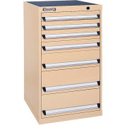 Kennedy 7-Drawer Modular Cabinet Base Model-No Lock w/Suspension Drawers-24x24x39-5/8, Classic Blue