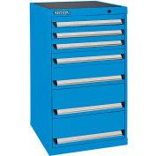 Kennedy 6-Drawer Modular Cabinet Base Model-No Lock w/Suspension Drawers-24x24x35-5/8, Utility Blue