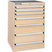 Kennedy 7-Drawer Modular Cabinet w/550 lb Cap. Full Extension Slide Drawers-30x24x39.6, Black