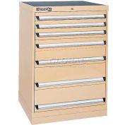 Kennedy 7-Drawer Modular Cabinet w/550 lb Cap. Full Extension Slide Drawers-30x24x39.6, Gray Wrinkle