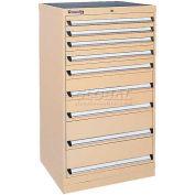 Kennedy 9-Drawer Modular Cabinet w/550 lb Cap. Full Extension Slide Drawers-30x24x49.6, Burgundy