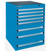 Kennedy 9-Drawer Modular Cabinet Base Model-No Lock w/Full Extension Drawers-30x24x49.6,Utility Blue