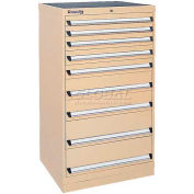 Kennedy 9-Drawer Modular Cabinet w/550 lb Cap. Full Extension Slide Drawers-30x24x49.6, Yellow