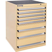 Kennedy 8-Drawer Modular Cabinet Base Model-No Lock w/Suspension Drawers-30x30x40, Yellow