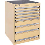 Kennedy 8-Drawer Modular Cabinet Base Model-No Lock w/Full Extension Drawers-30x30x40, Tan Texture