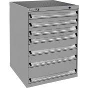 Kennedy 7-Drawer Modular Cabinet Base Model-No Lock w/Suspension Drawers-30x30x40, Gray Wrinkle