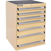 Kennedy 7-Drawer Modular Cabinet w/220 lb Cap. Suspension Slide Drawers - 30x30x40, Red