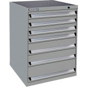 Kennedy 7-Drawer Modular Cabinet Base Model-No Lock w/Full Extension Drawers-30x30x40, Classic Blue