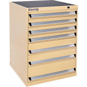 Kennedy 7-Drawer Modular Cabinet Base Model-No Lock w/Full Extension Drawers-30x30x40, Tan Texture