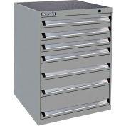 Kennedy 7-Drawer Modular Cabinet Base Model-No Lock w/Full Extension Drawers-30x30x40, Utility Blue
