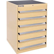 Kennedy 6-Drawer Modular Cabinet w/220 lb Cap. Suspension Slide Drawers - 30x30x40, Tan Texture