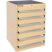 Kennedy 6-Drawer Modular Cabinet w/220 lb Cap. Suspension Slide Drawers - 30x30x40, Brown Wrinkle