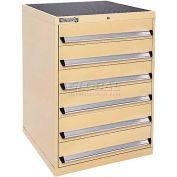 Kennedy 6-Drawer Modular Cabinet w/220 lb Cap. Suspension Slide Drawers - 30x30x40, Gray Wrinkle