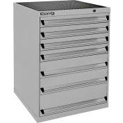Kennedy 6-Drawer Modular Cabinet Base Model-No Lock, Suspension Drawers-30x30x40, Red