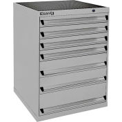 Kennedy 6-Drawer Modular Cabinet Base Model-No Lock, Suspension Drawers-30x30x40, Utility Blue