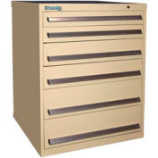 Kennedy 6-Drawer Modular Cabinet w/550 lb Cap. Full Extension Slide Drawers - 30x30x40, Tan Texture