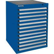 Kennedy 12-Drawer Modular Cabinet Base Model-No Lock w/Suspension Drawers-30x30x40, Utility Blue