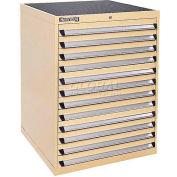 Kennedy 12-Drawer Modular Cabinet w/220 lb Cap. Suspension Slide Drawers - 30x30x40, Utility Blue