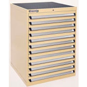 Kennedy 12-Drawer Modular Cabinet w/550 lb Cap. Full Extension Slide Drawers - 30x30x40, Tan Texture