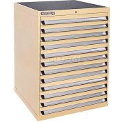 Kennedy 12-Drawer Modular Cabinet w/550 lb Cap. Full Extension Slide Drawers-30x30x40, Burgundy