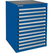 Kennedy 12-Drawer Modular Cabinet Base Model-No Lock w/Full Extension Drawers-30x30x40, Utility Blue