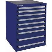 Kennedy 9-Drawer Modular Cabinet Base Model-No Lock w/Suspension Drawers-30x30x40, Red