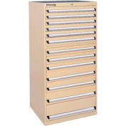 Kennedy 13-Drawer Modular Cabinet w/220 lb Cap. Suspension Slide Drawers - 30x30x60, Tan Texture