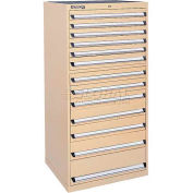 Kennedy 13-Drawer Modular Cabinet w/220 lb Cap. Suspension Slide Drawers - 30x30x60, Brown Wrinkle