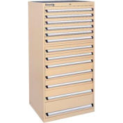 Kennedy 13-Drawer Modular Cabinet w/550 lb Cap. Full Extension Slide Drawers - 30x30x60, Tan Texture