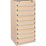 Kennedy 9-Drawer Modular Cabinet Base Model-No Lock w/Suspension Drawers-30x30x60, Utility Blue
