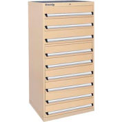Kennedy 9-Drawer Modular Cabinet w/550 lb Cap. Full Extension Slide Drawers - 30x30x60, Tan Texture