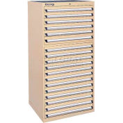 Kennedy 18-Drawer Modular Cabinet w/220 lb Cap. Suspension Slide Drawers - 30x30x60, Brown Wrinkle