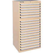 Kennedy 18-Drawer Modular Cabinet w/550 lb Cap. Full Extension Slide Drawers - 30x30x60, Tan Texture