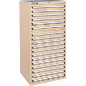 Kennedy 18-Drawer Modular Cabinet w/550 lb Cap. Full Extension Slide Drawers-30x30x60, Brown Wrinkle