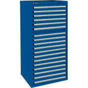 Kennedy 18-Drawer Modular Cabinet Base Model-No Lock w/Full Extension Drawers -30x30x60,Burgundy