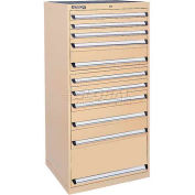 Kennedy 11-Drawer Modular Cabinet w/550 lb Cap. Full Extension Slide Drawers-30x30x60, Brown Wrinkle