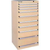 Kennedy 10-Drawer Modular Cabinet Base Model-No Lock w/Full Extension Drawers -30x30x60,Utility Blue