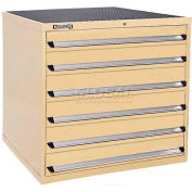 Kennedy 6-Drawer Modular Cabinet w/550 lb Cap. Full Extension Slide Drawers - 44x30x40, Utility Blue