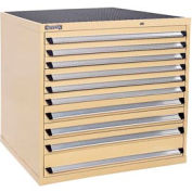 Kennedy 10-Drawer Modular Cabinet w/550 lb Cap. Full Extension Slide Drawers - 44x30x40, Tan Texture