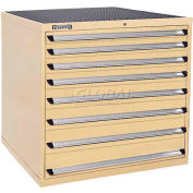 Kennedy 7-Drawer Modular Cabinet w/550 lb Cap. Full Extension Slide Drawers-44x30x40, Brown Wrinkle